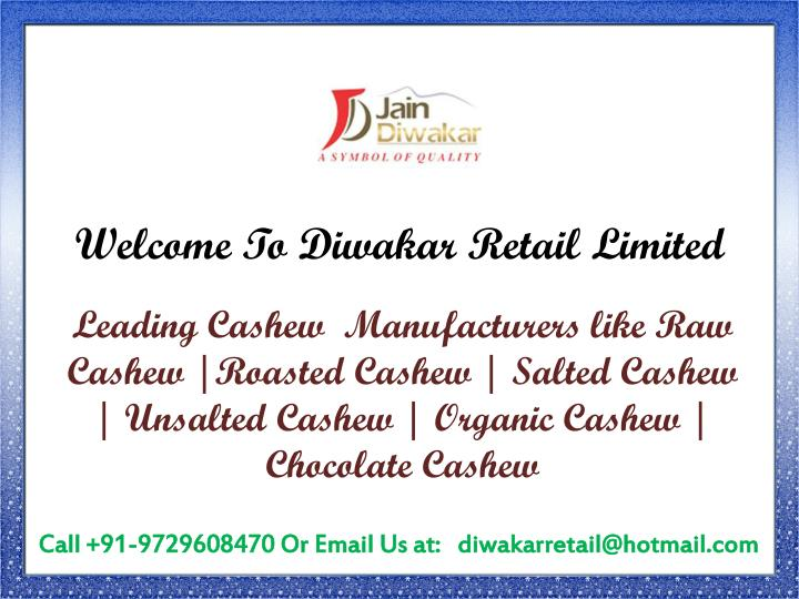 welcome to diwakar retail limited n.