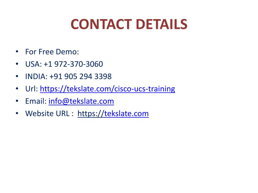 PPT - Cisco UCS Training, Cisco UCS Basics, Cisco UCS Ar PowerPoint