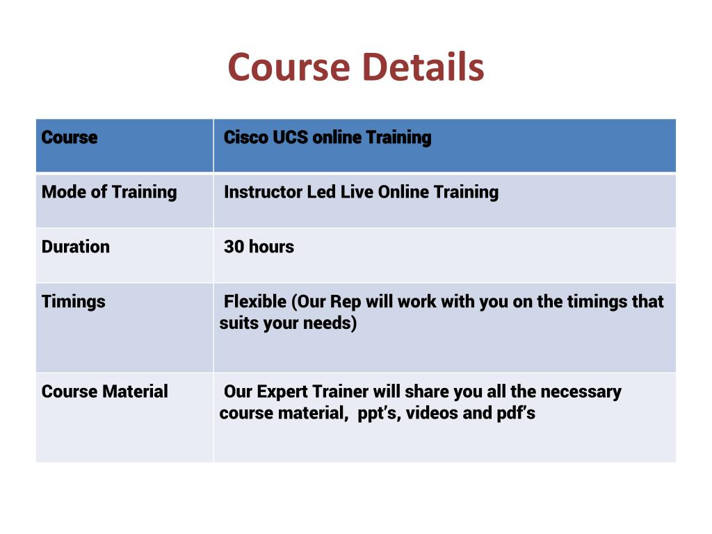 PPT - Cisco UCS Training, Cisco UCS Basics, Cisco UCS Ar