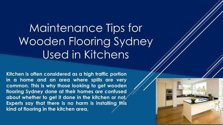 maintenance tips for wooden flooring sydney used in kitchens n.