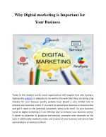 why digital marketing is important for
