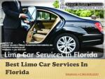best l imo c ar services in florida