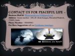 contact us for peaceful life
