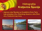 hidrografija kraljevine panije
