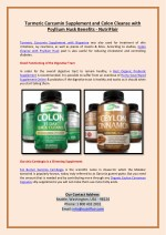 turmeric curcumin supplement and colon cleanse
