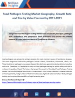 food pathogen testing market geography growth
