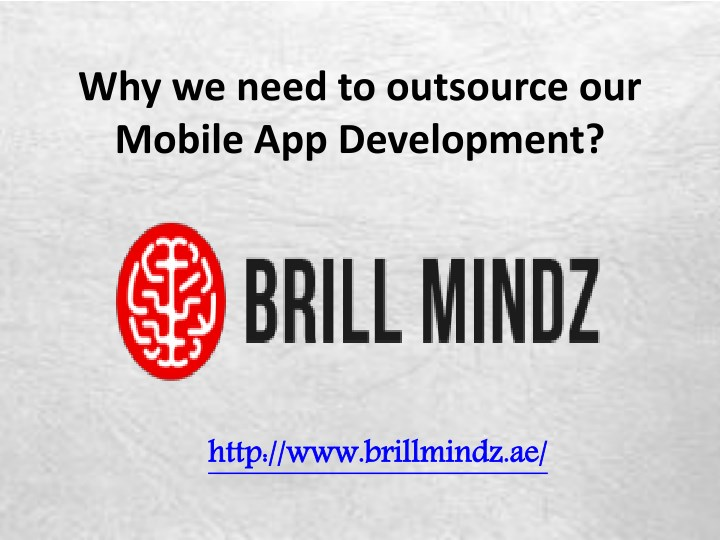 why we need to outsource our mobile n.