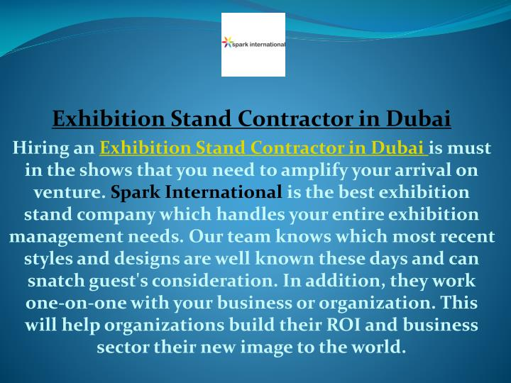 exhibition stand contractor in dubai hiring n.
