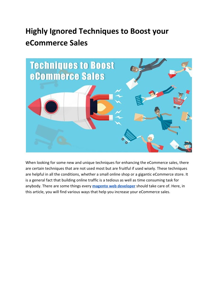 highly ignored techniques to boost your ecommerce n.