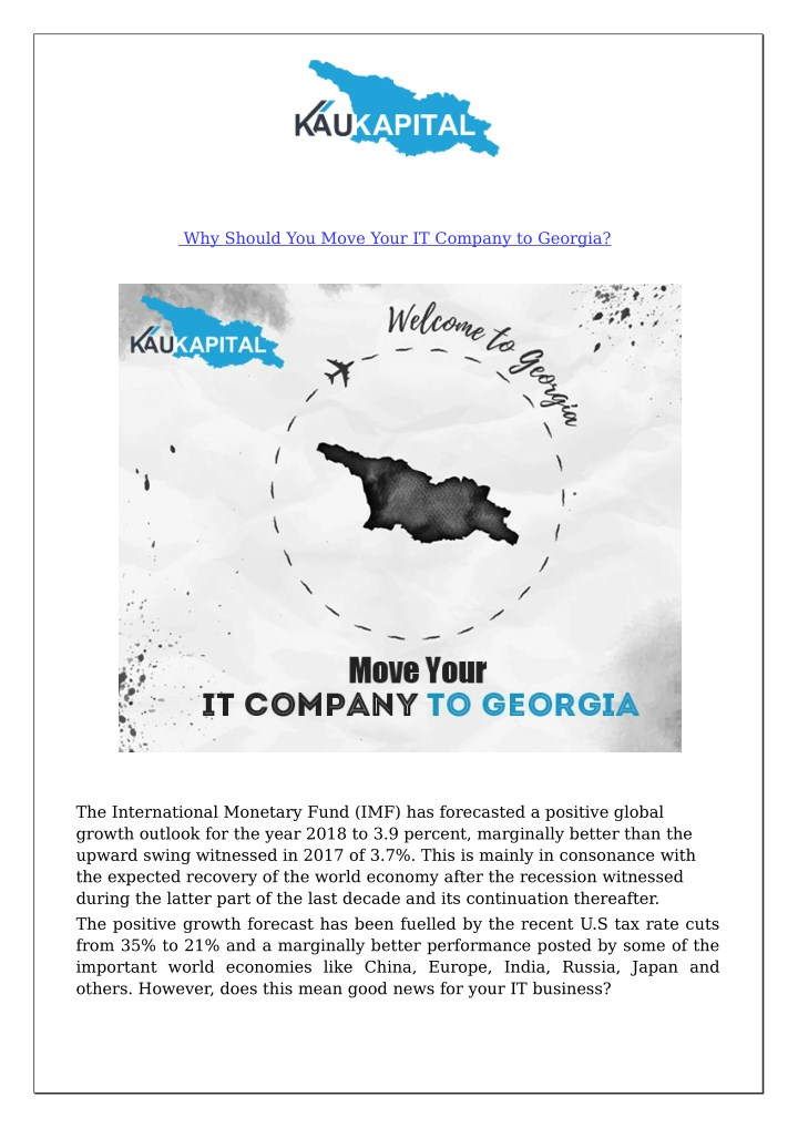 why should you move your it company to georgia n.