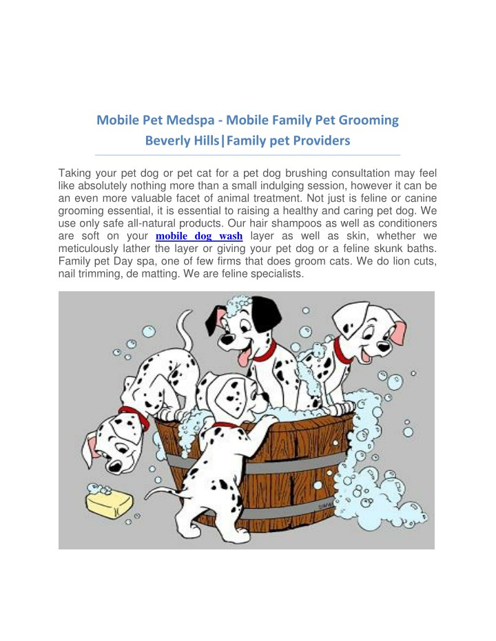 mobile pet medspa mobile family pet grooming n.