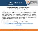 global sulfuric acid market t