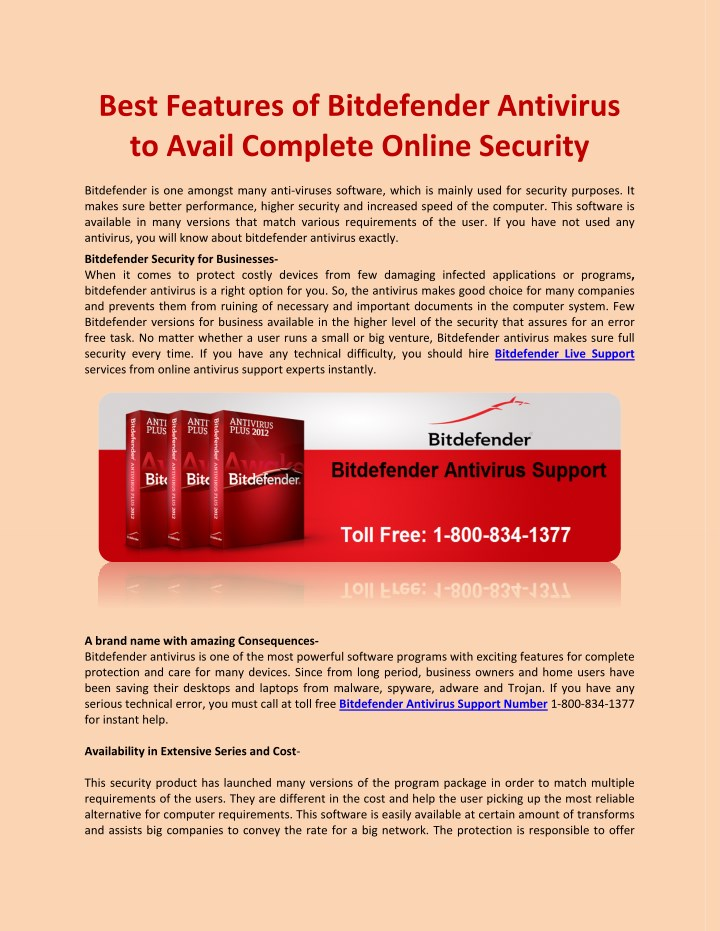 best features of bitdefender antivirus to avail n.