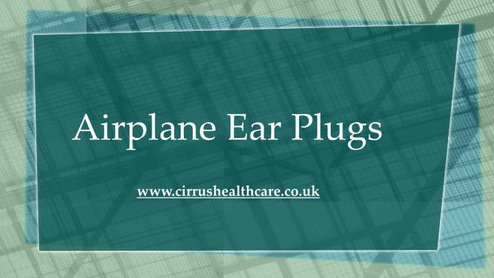 airplane ear plugs n.