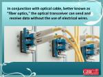 in conjunction with optical cable better known