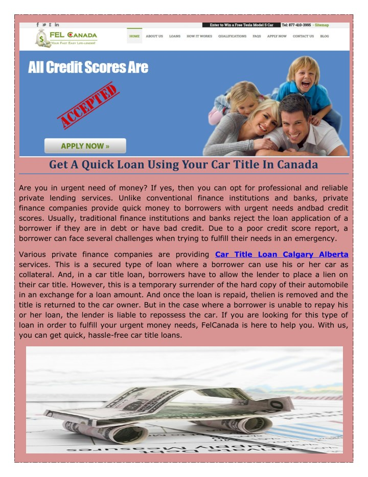 get a quick loan using your car title in canada n.