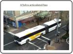 a volvo articulated bus