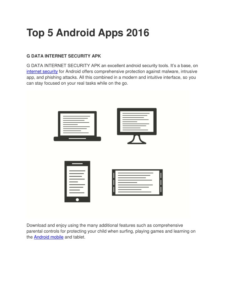 top 5 android apps 2016 n.