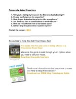 frequently asked questions 1 will you be listing