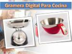 gramera digital para cocina