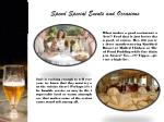 spend special events and occasions