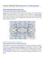 indian marble manufacturer in rajsamand