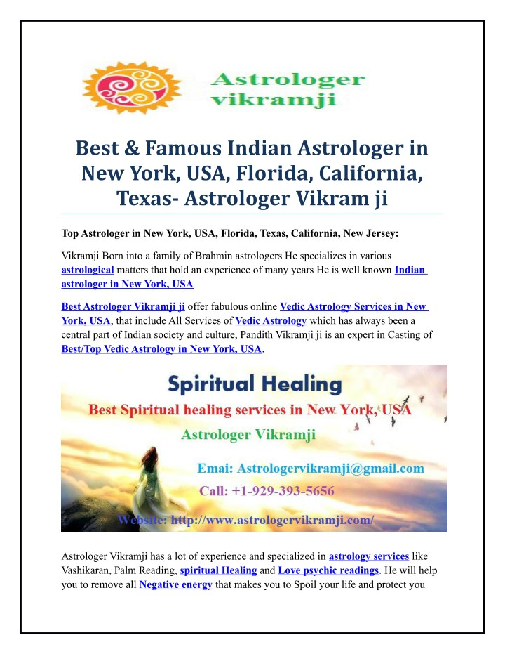 best famous indian astrologer in new york n.