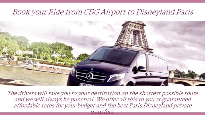 book your ride from cdg airport to disneyland n.