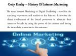 cody emsky history of internet marketing 1
