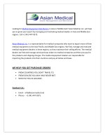 looking for medical equipment distributors