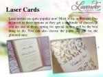 laser cards