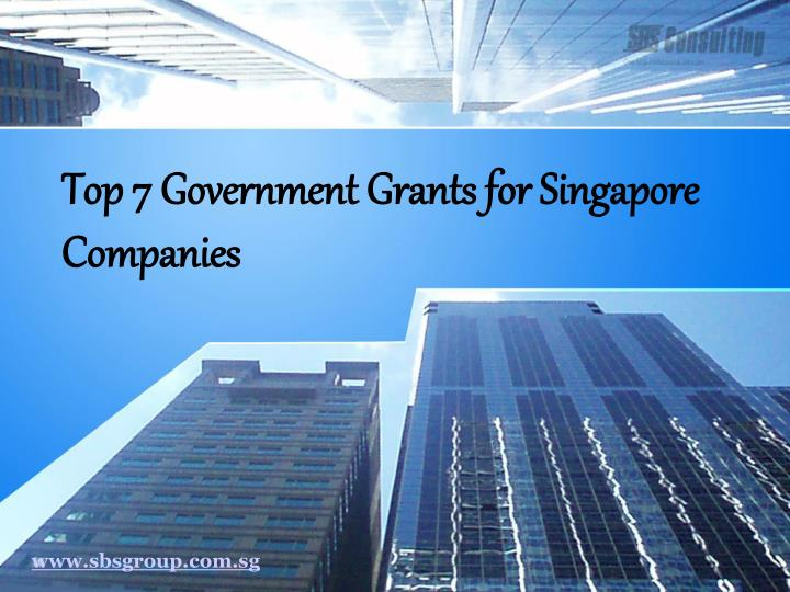 top 7 government grants for singapore companies n.