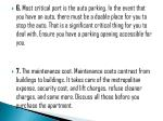 6 most critical part is the auto parking