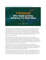3 reasons why digital lending will bring you more