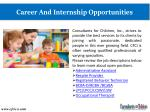 career and internship opportunities