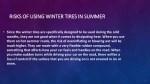 risks of using winter tires in summer risks 2