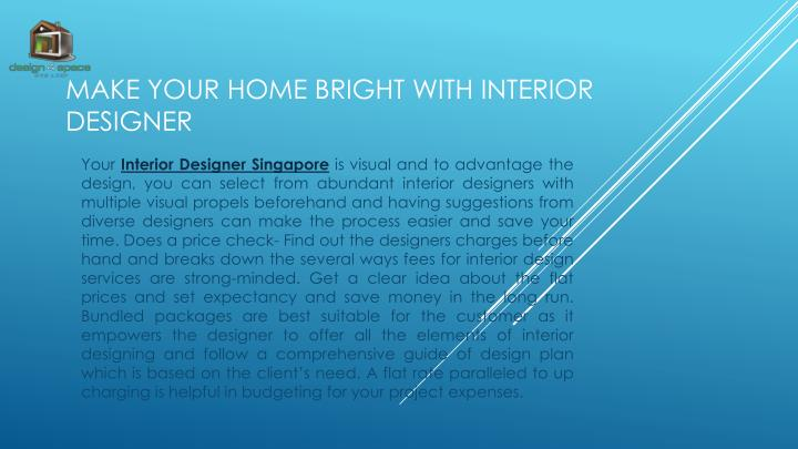 make your home bright with interior designer n.