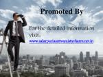promoted by