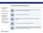investment banking business