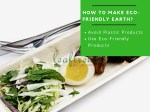 how to make eco friendly earth