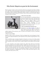 why electric mopeds are great for the environment