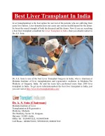 best liver transplant in india