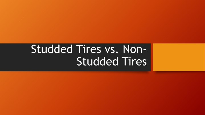 studded tires vs non studded tires n.