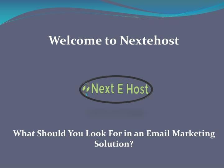 welcome to nextehost n.