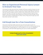 hire an experienced personal injury lawyer