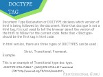 doctype tag