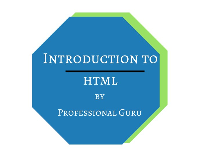 introduction to html by n.
