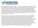 victor steel corporation is a prominent name