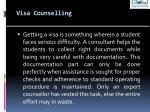 visa counselling