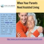 when your parents need assisted living